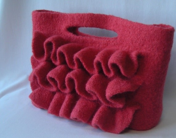 Knitting Pattern PDF Download - Felted Wool Nashville Bag  - includes free tutorial on making a fabric lining