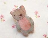 Teddy Bear brooch - Pink bear - Cute animal brooches - Woodland - christmasinjuly CIJ (BH008) - BeautySpot