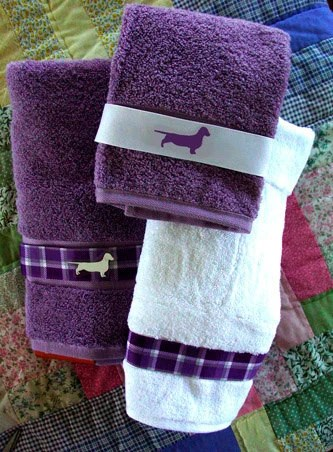 Items Similar To Dachshund Doxie Dog Bath Towel Purple And White Shower Curtain And Window