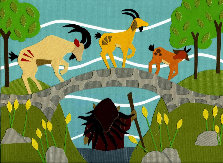 3 Billy Goats Gruff Signed Giclee Print Of An Original