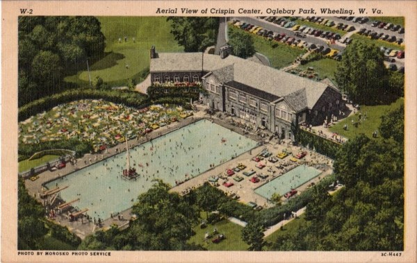 Vintage West Virginia Postcard Swimming Pool at the Crispin