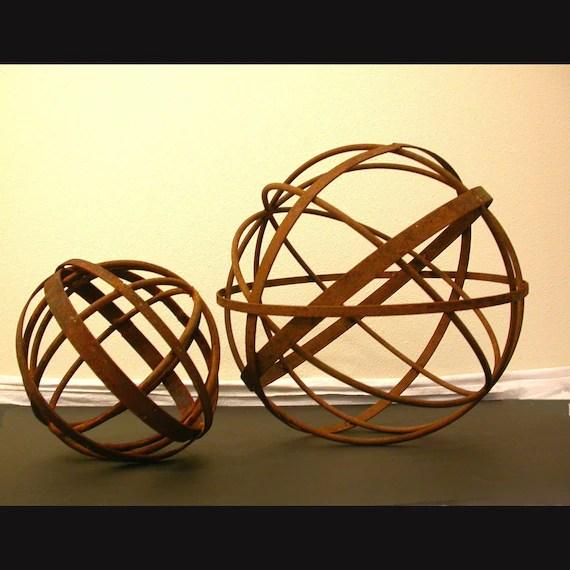 """24"""" Sphere Garden Metal Sculpture"""