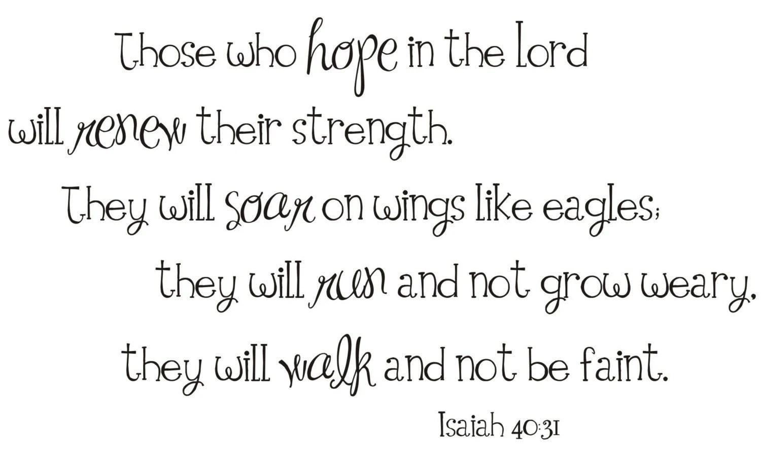 Hope In The Lord Isaiah 40 31 Vinyl Wall Decal By Back40life