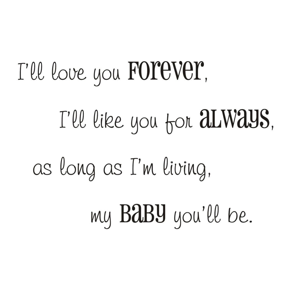 Download I'll love you forever vinyl wall decal by back40life on Etsy