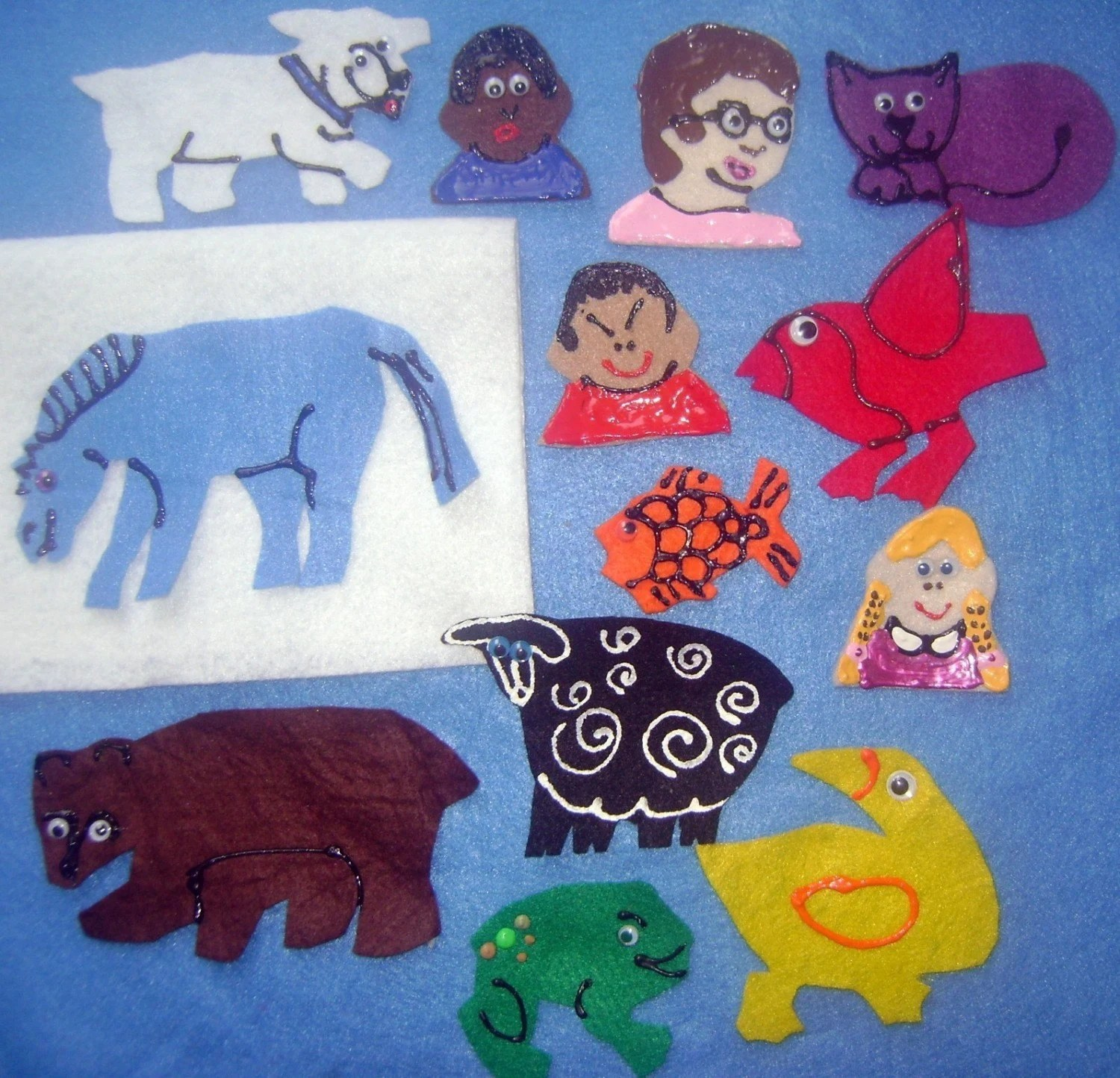 Brown Bear Brown Bear What Do You See Flannel Felt Board