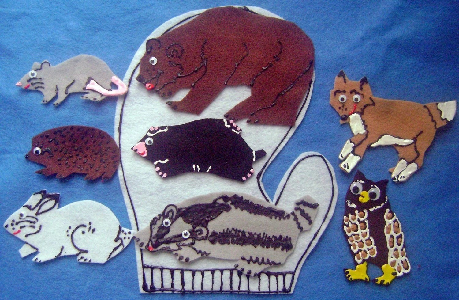 Animals In The Mitten Felt Board Flannel Board Story Set With