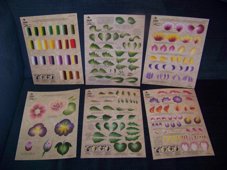 Donna Dewberry Plaid Folkart One Stroke Worksheet Pack