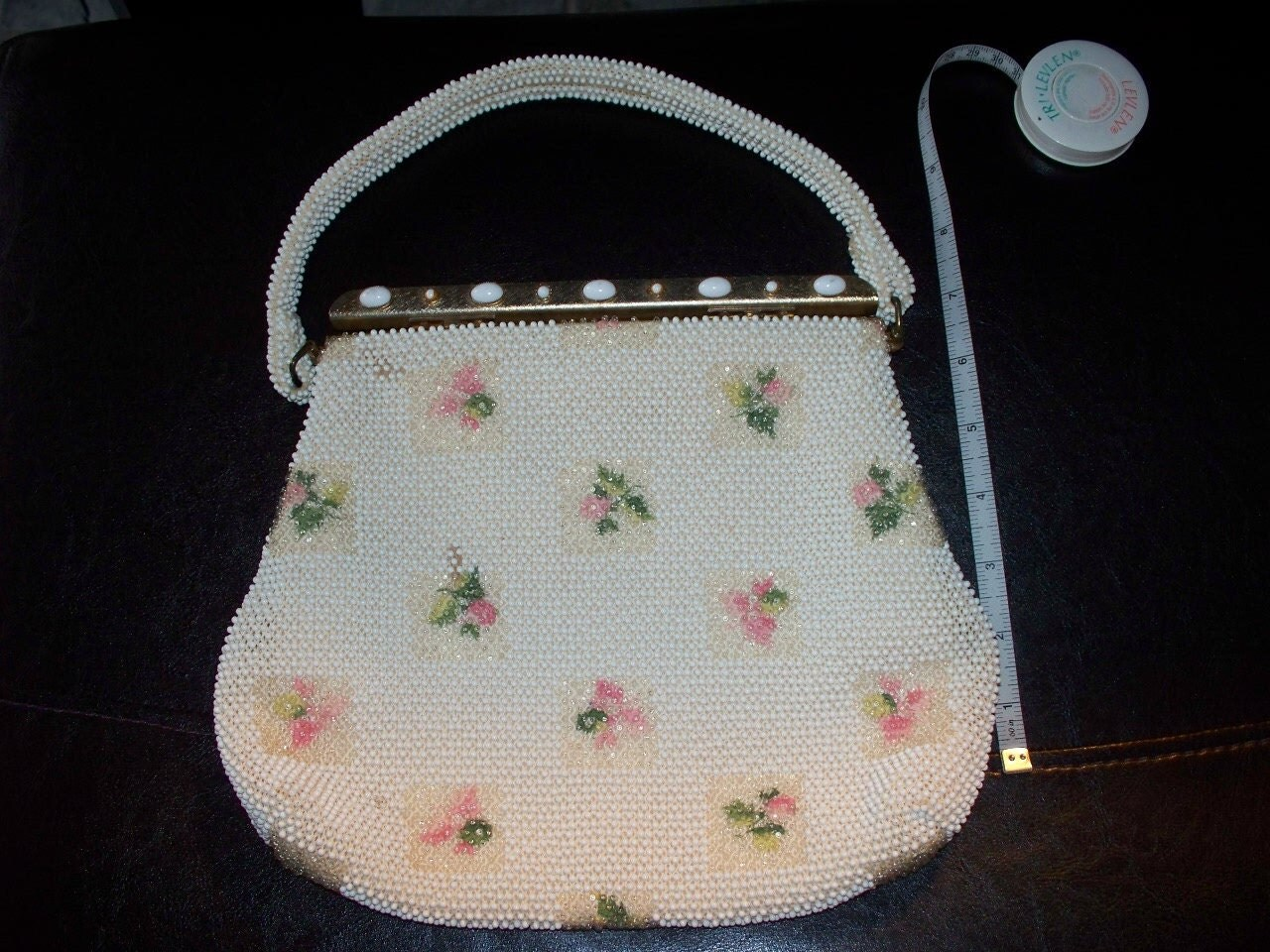 Antique Vintage 1960s Beaded Purse Delicate Formal