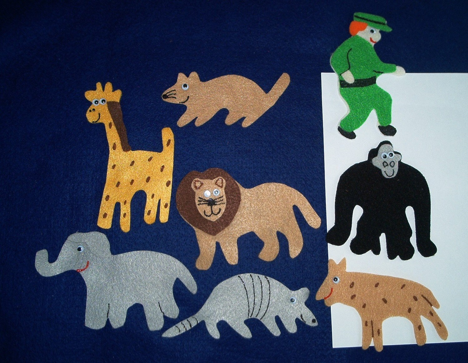 Goodnight Gorilla Flannel Board Felt Story Set By