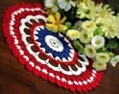 Red,White and Blue Doily 2 - DoilyMania