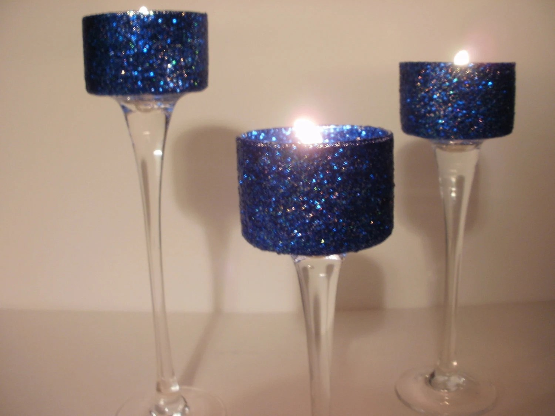 Wedding Centerpieces Navy Blue Simple Elegance Gel 3 Piece By