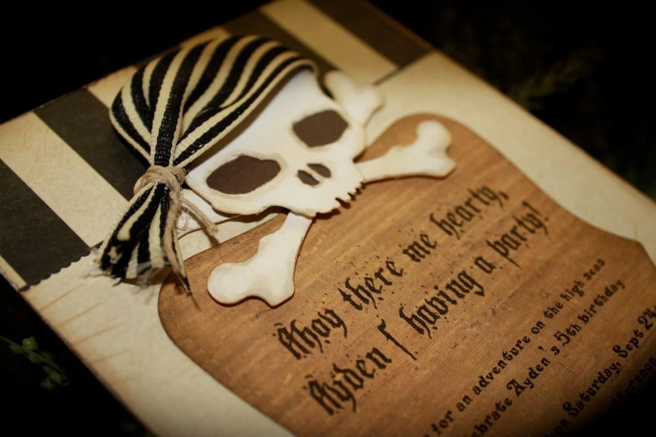 ARRRA Pirate ShipSKULL Invite For Any OccasionPirates