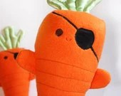 Carrots of the Caribbean, Stuffed Pirate, Stuffed carrot Toy, Baby Toy, Orange Plush toy - BBsForBabies