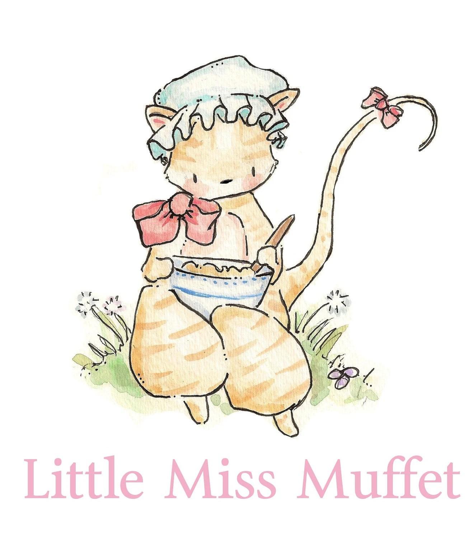 Little Miss Muffet Nursery Rhyme Collection Print 8x10