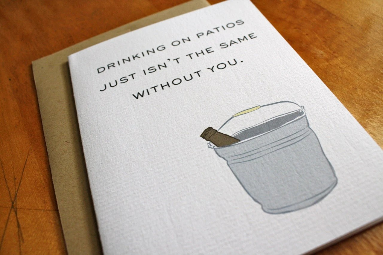 Drinking on Patios - Beer Bucket Card - ColettePaperie