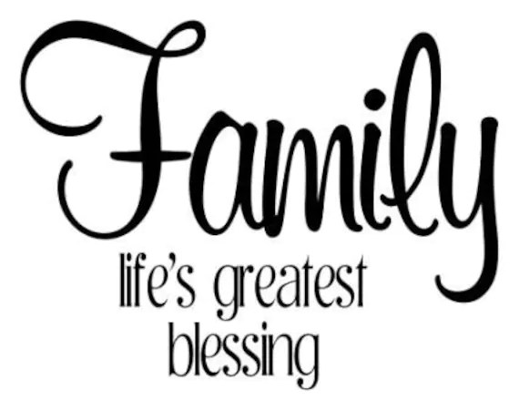 Download Family life's greatest blessing vinyl decal