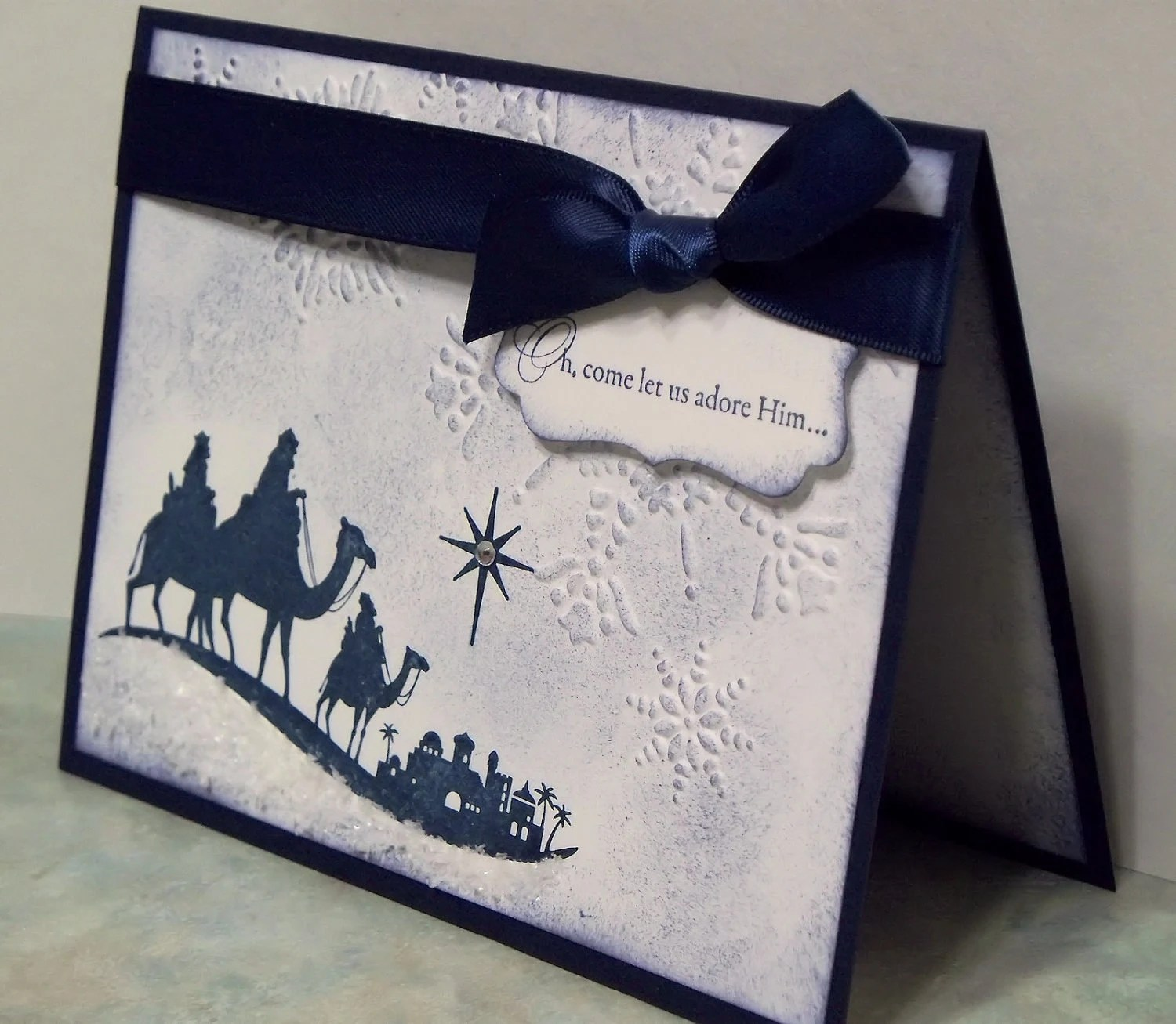 Handmade Christmas Card Stampin Up COME To BETHLEHEM Wise