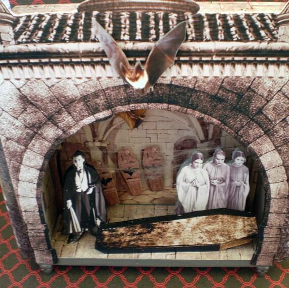 Shadow Box Vampire Castle Diorama