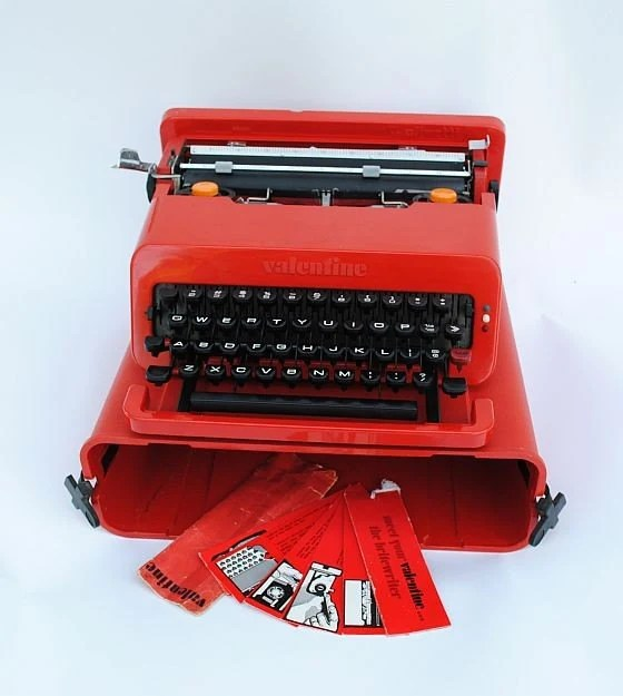 SALEOlivetti Valentine Sottsass Typewriter The