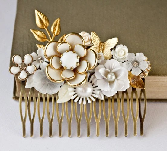 Bridal Hair Comb Vintage Hair Comb Wedding Hair Comb