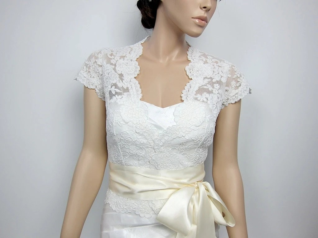 Items Similar To Lace Bolero, Wedding Jacket, Bridal
