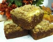Pumpkin Cream Cheese Crunch Brownies - CresCrumbCakes