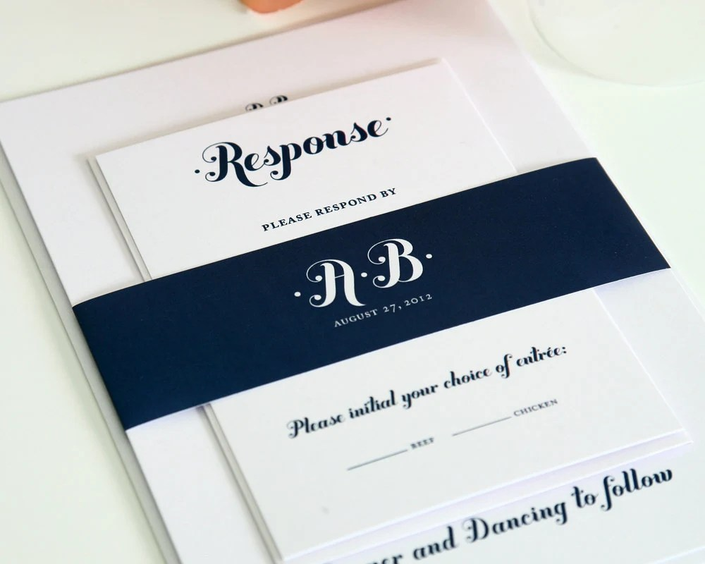 Image Result For Wedding Invitation Navy Blue