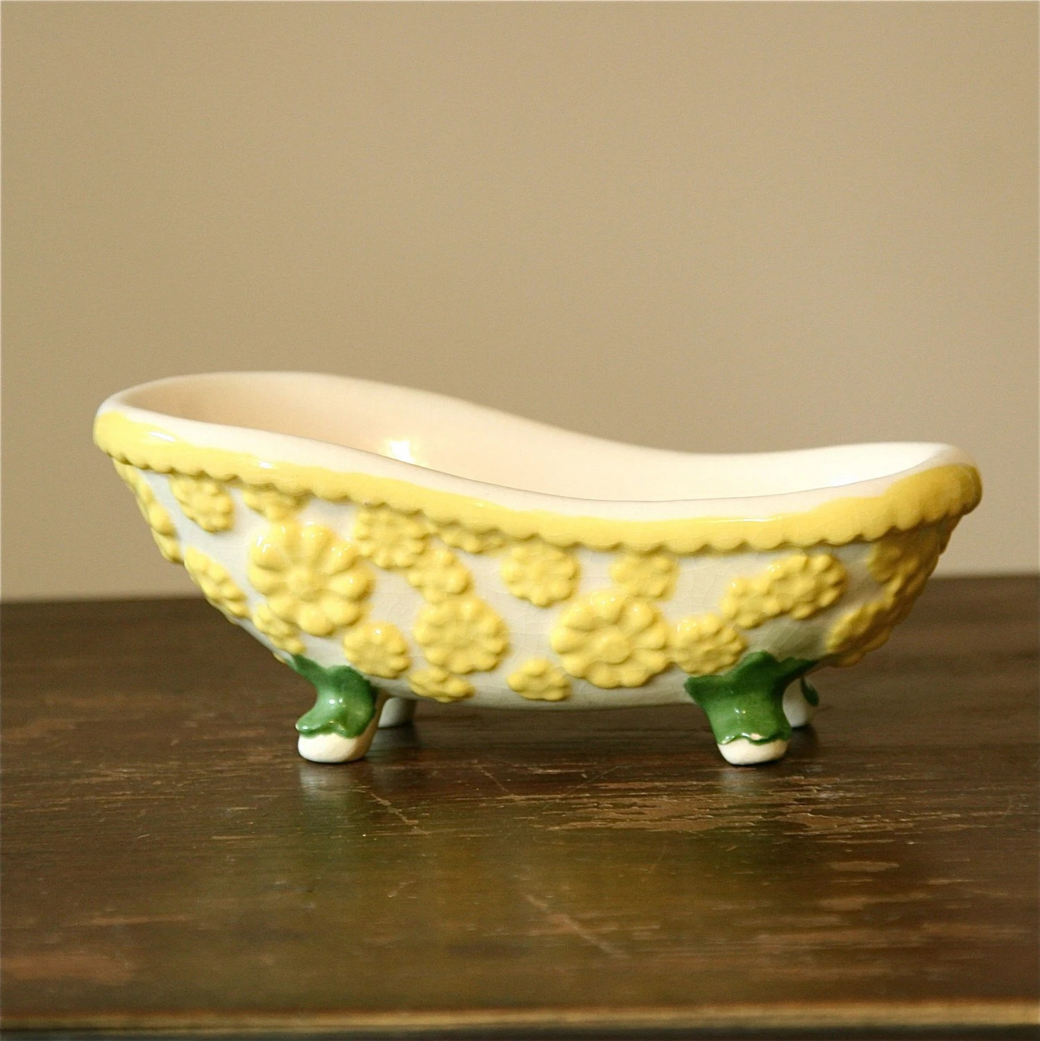 Vintage Ceramic Bathtub Planter Or Soap Dish