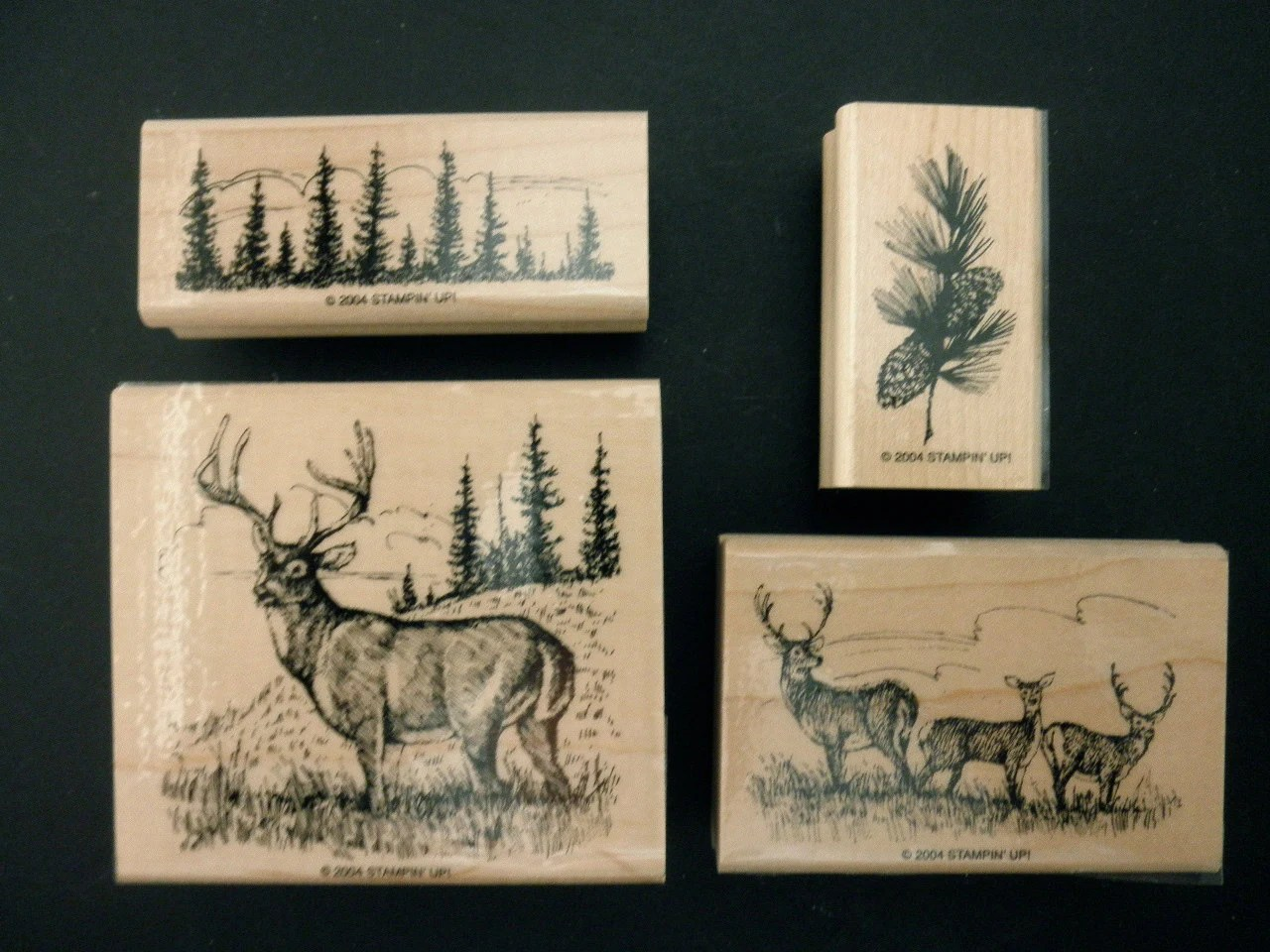 RUBBER STAMPS Used Stampin Up 4 Stamps Noble Deer