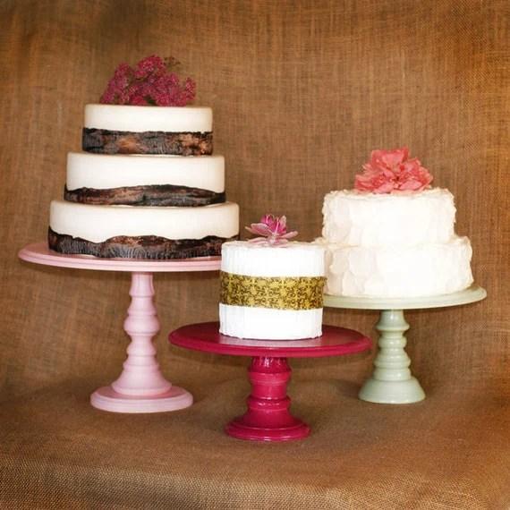 Pedestal Serving Cake Stands Set Of 3 Any Color