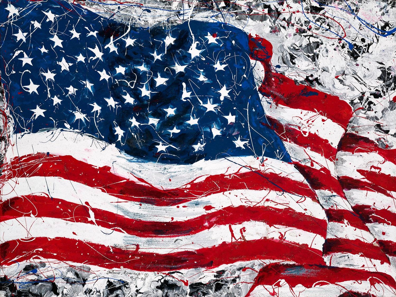 American flag by Johno Prascak