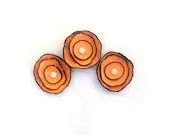 Cabochon flowers. Set of 3 leather flowers - HMCreativeSupplies