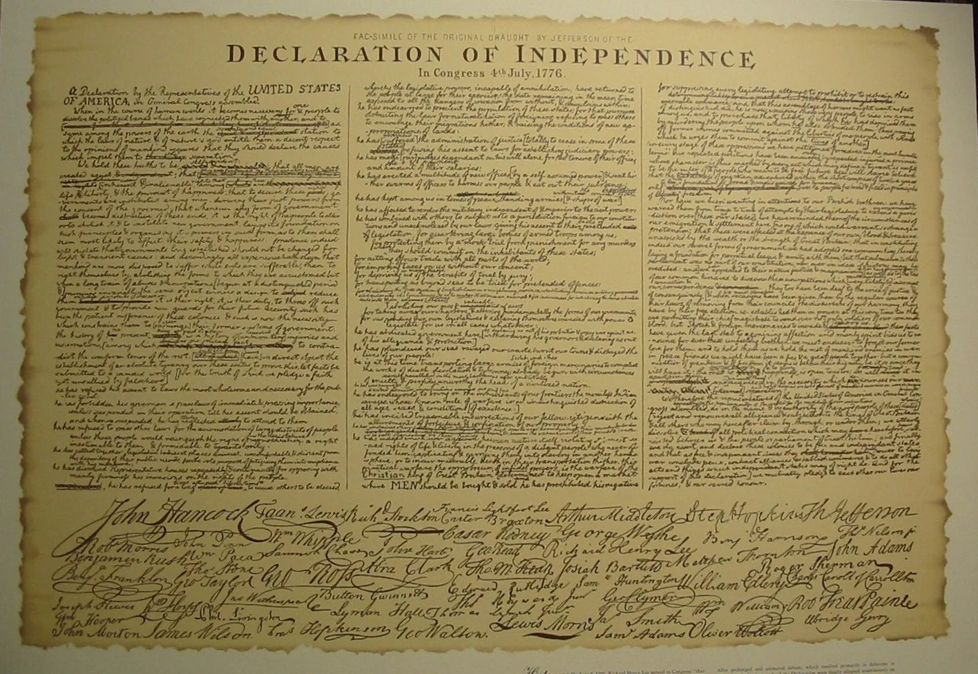 Adeclaration Of Independence Large Print From By Goatcartart