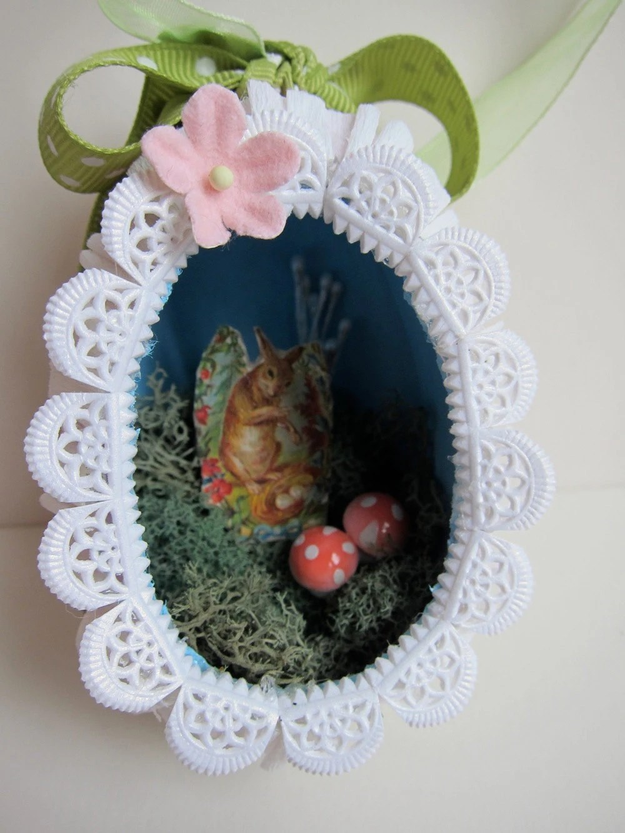 Items Similar To OOAK Easter Egg Diorama Ornament