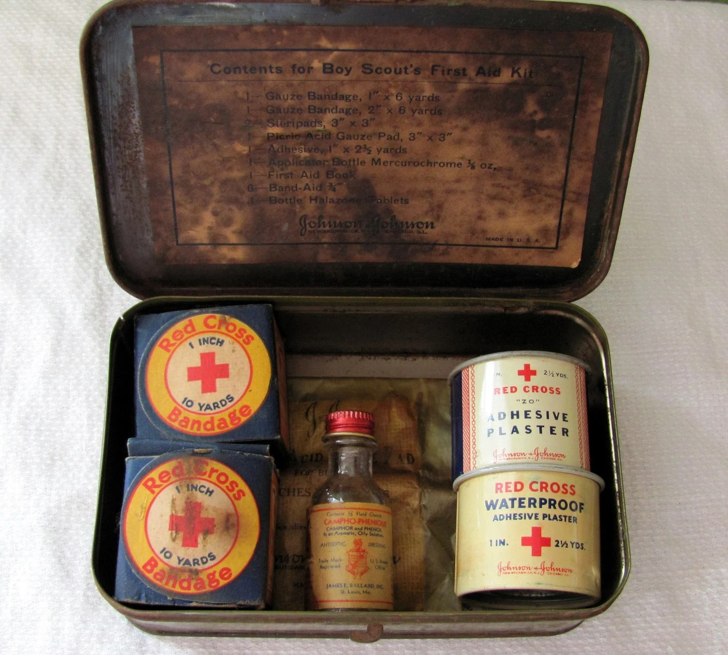 Vintage Official Boy Scout First Aid Kit
