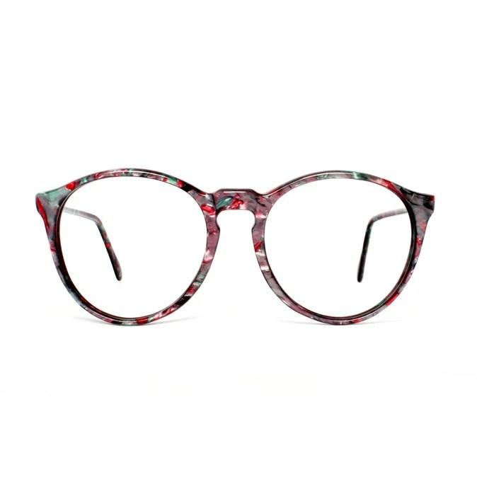 Purple / Green / Pink Round transparent Vintage Eyeglasses - Onyx - MODvintageshop