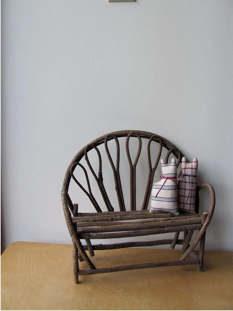 Twig Bench Miniature Wood Doll Furniture Or For Decor