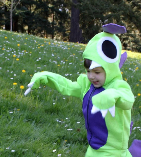 Custom Size and Color Complete Kids Dinosaur Suit Costume - missnessamonster