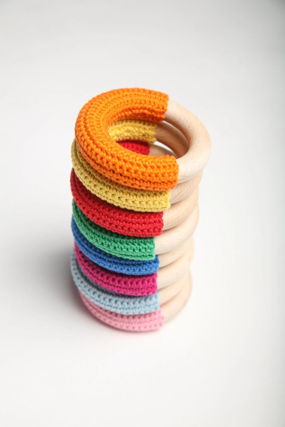 Pick your color :) First toy / Teething ring / Babywearing toy