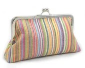 Summer Stripe - Large Clutch