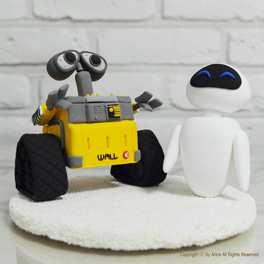 Wall - E, Eve custom wedding cake topper Decoration Gift