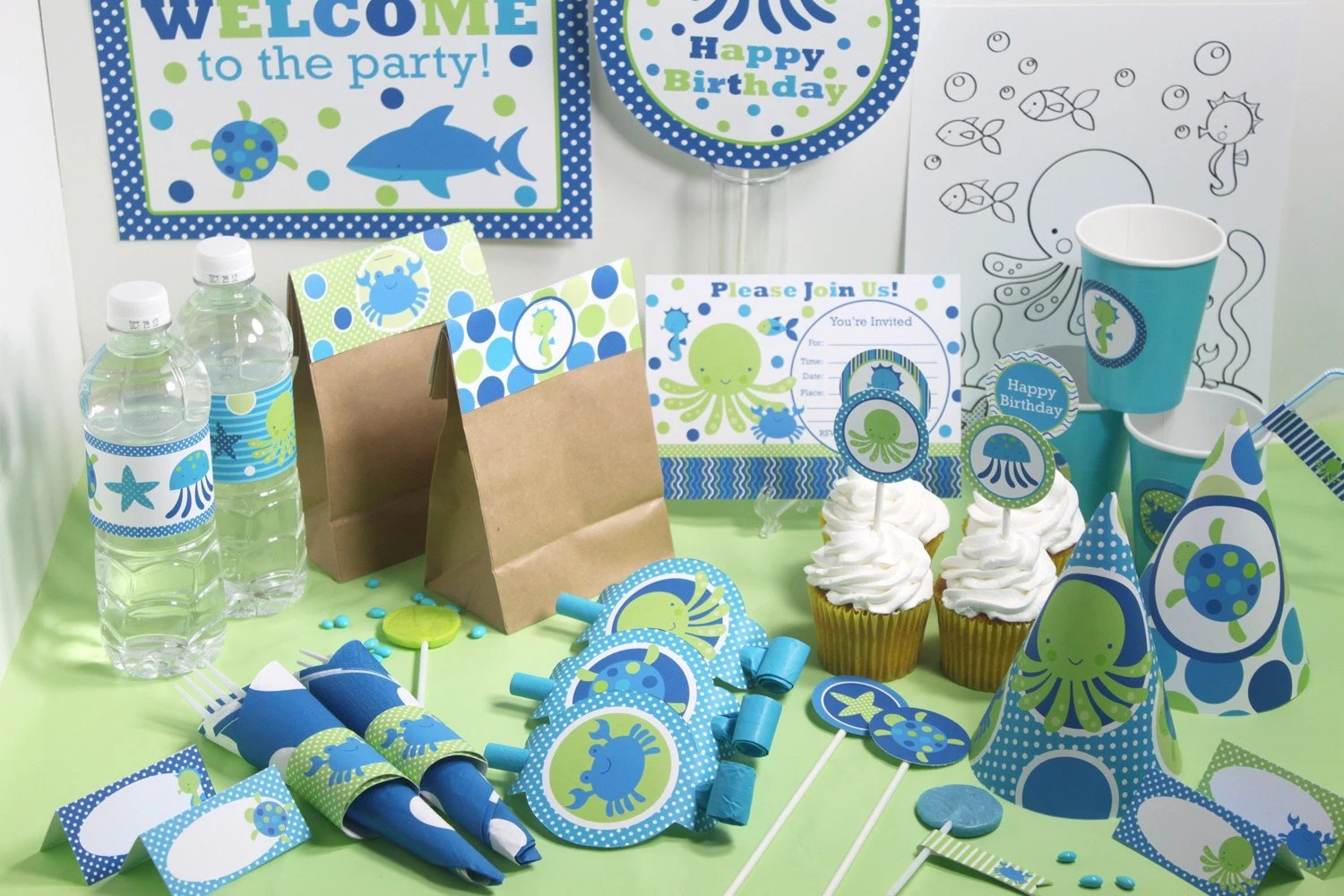 Under The Sea Birthday Decorations Printable Under The Sea