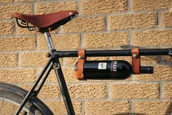 "Bicycle Wine Rack (1"" frame) TAN"