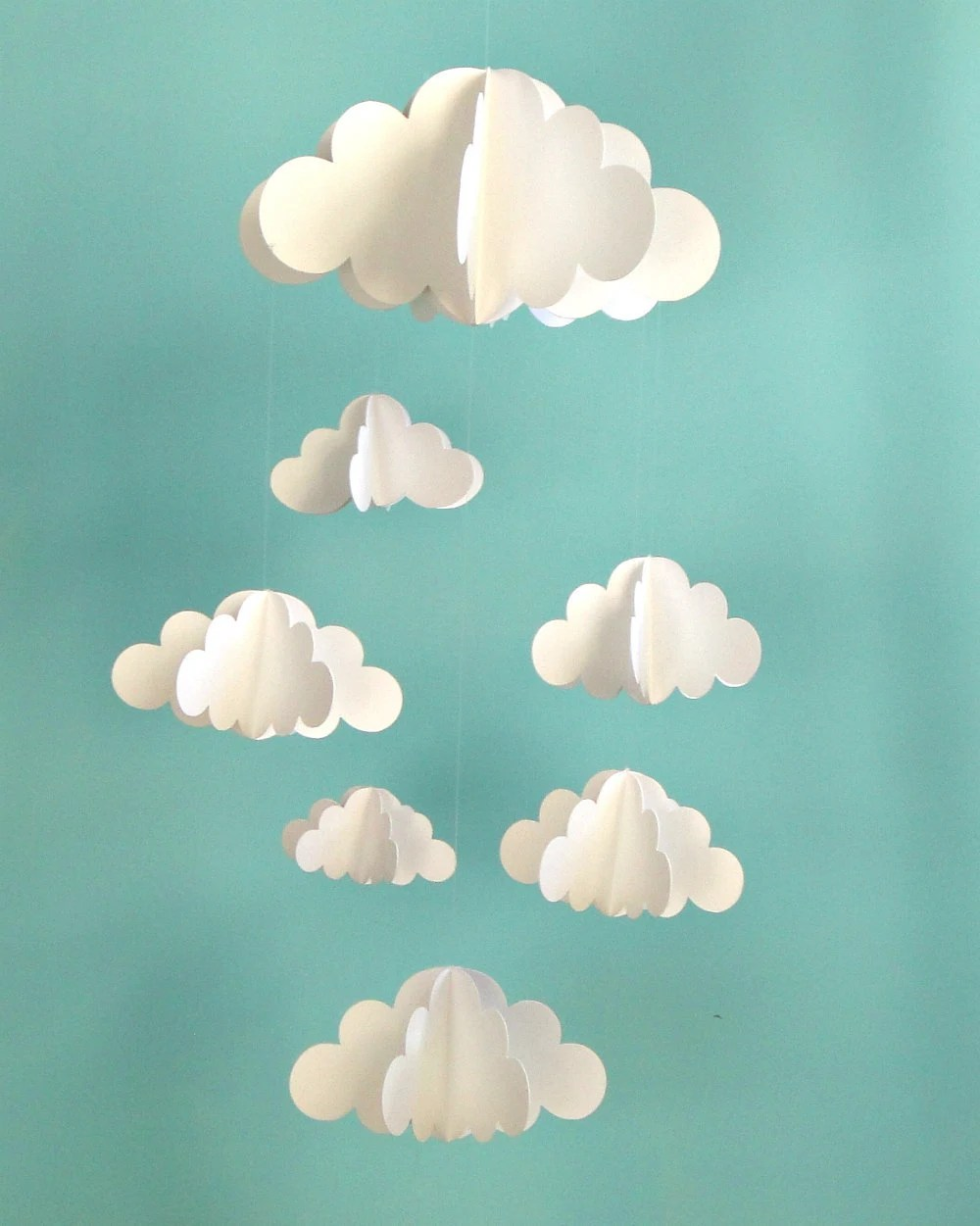 Clouds Hanging Baby Mobile/3D Paper Mobile
