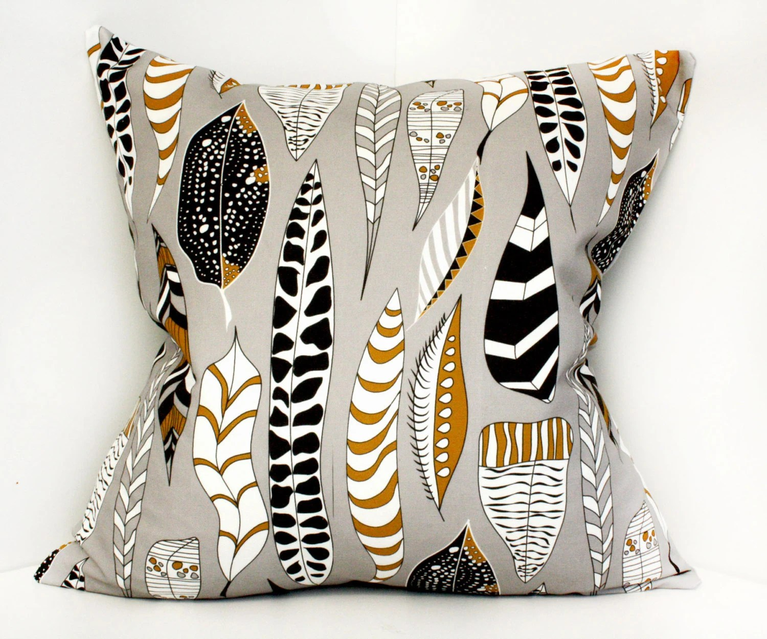 Decorative pillow cover, cushion cover, pillowcase, home gift - 18x18 Grey, Brown, Black- ships 10 days after order - NewMomDesigns