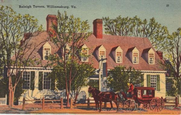 Williamsburg Virginia Images Vintage Postcards 1950s