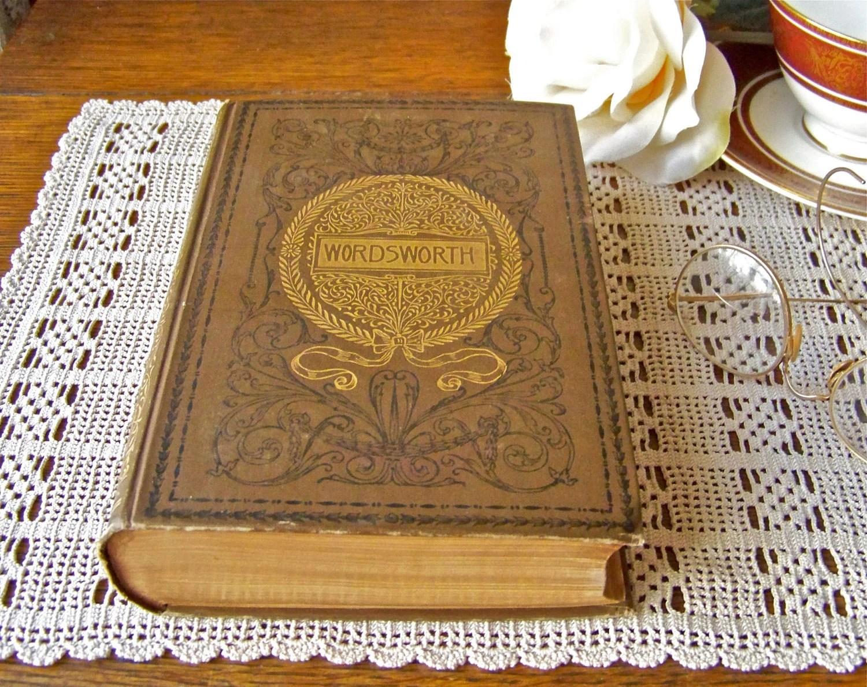 Antique Wordsworth S Poetry Book 1892 William Wordsworth