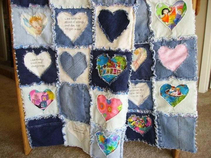 Blue Jean Rag BabyChildLap Quilt