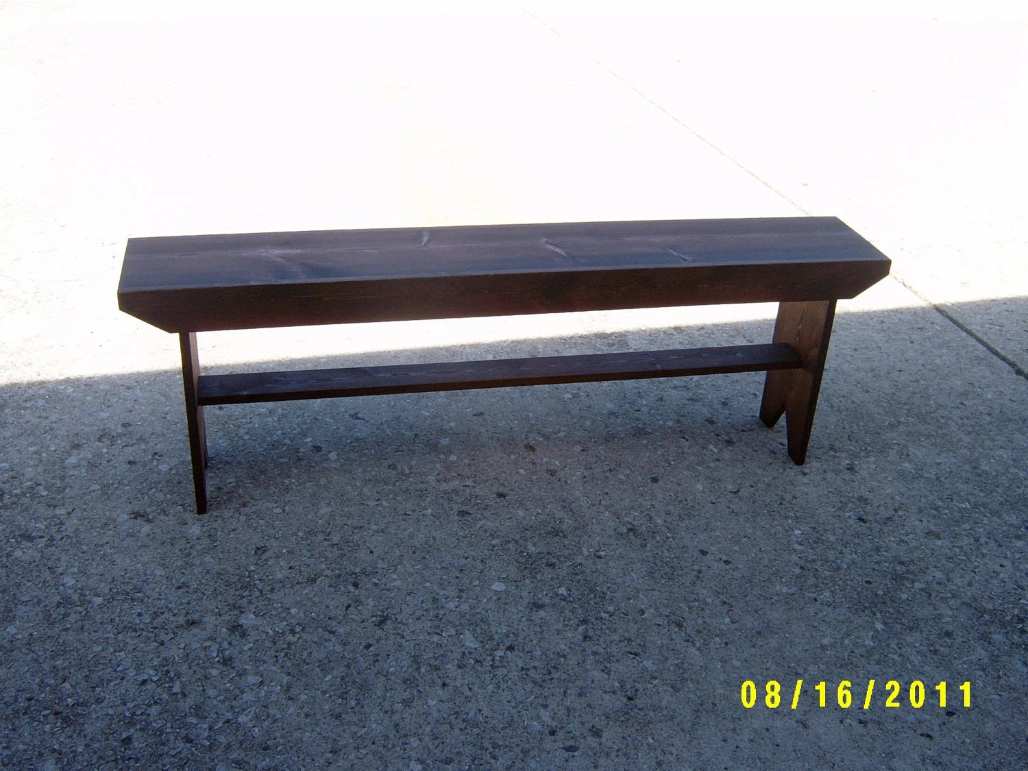 Wooden Bench Narrow Recycled Hallway Mudroom Stooltv