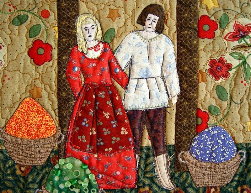 Art Quilt, HARVEST TIME, Fine Textile Art, Housewarming Decoration